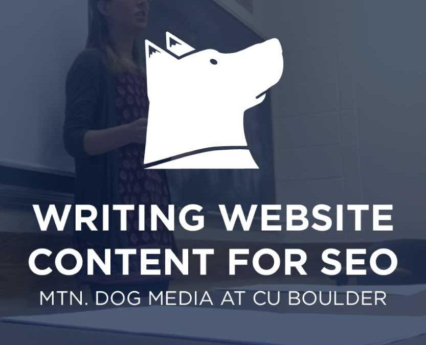 SEO Lecture at CU Boulder