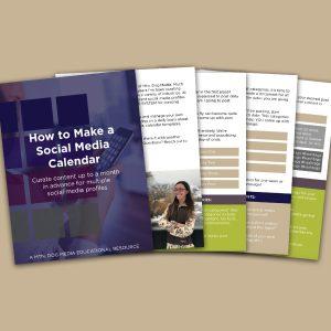 how to make a social media calendar workbook cover